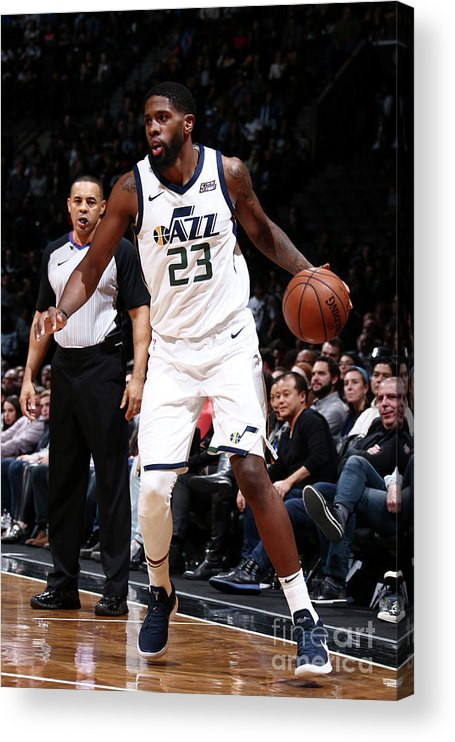 Nba Pro Basketball Acrylic Print featuring the photograph Royce O'neale by Nathaniel S. Butler
