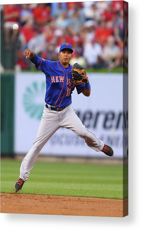 Second Inning Acrylic Print featuring the photograph Ruben Tejada by Dilip Vishwanat