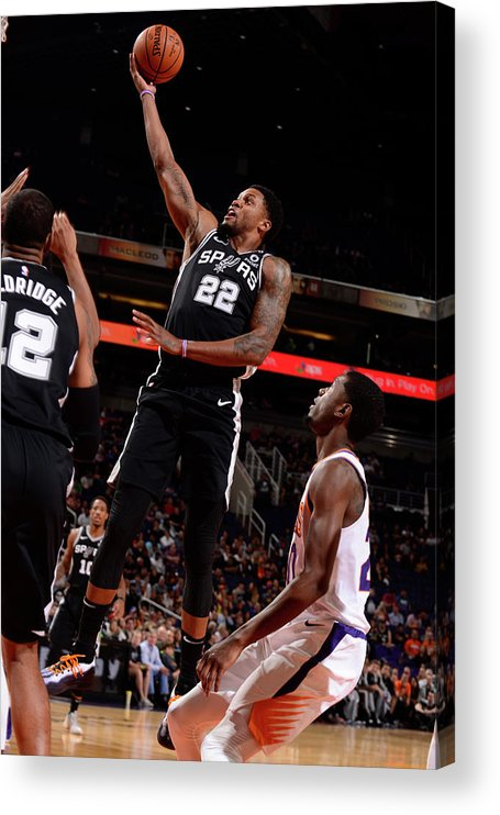 Nba Pro Basketball Acrylic Print featuring the photograph Rudy Gay by Barry Gossage