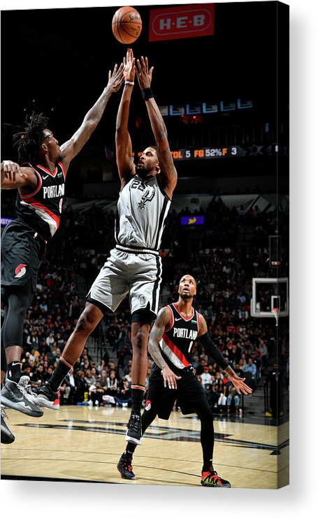 Nba Pro Basketball Acrylic Print featuring the photograph Rudy Gay by Logan Riely