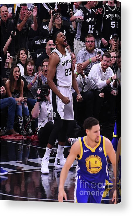 Playoffs Acrylic Print featuring the photograph Rudy Gay by Noah Graham