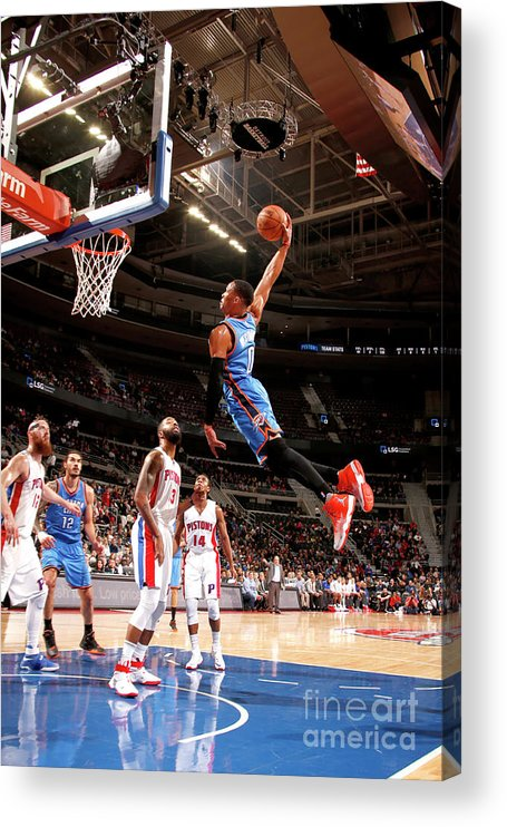 Nba Pro Basketball Acrylic Print featuring the photograph Russell Westbrook by Brian Sevald