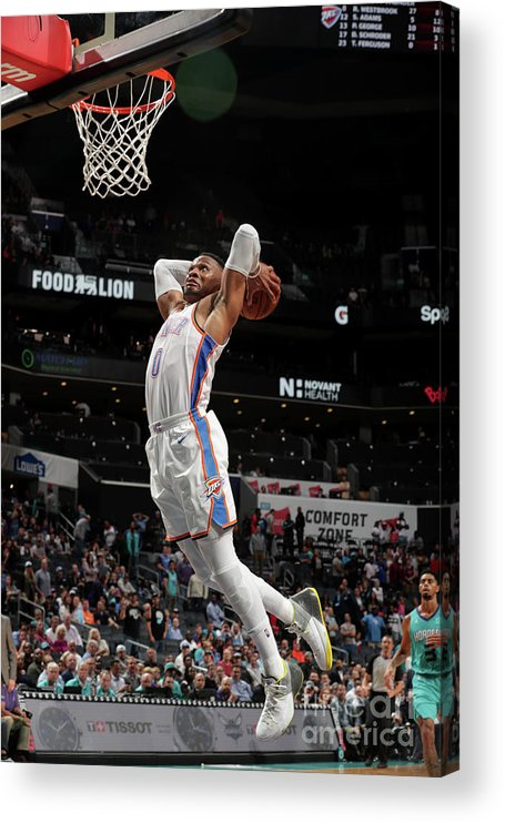Nba Pro Basketball Acrylic Print featuring the photograph Russell Westbrook by Kent Smith