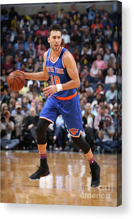 Nba Pro Basketball Acrylic Print featuring the photograph Sasha Vujacic by Joe Murphy