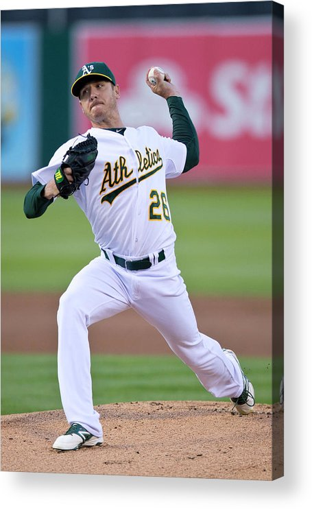 American League Baseball Acrylic Print featuring the photograph Scott Kazmir by Jason O. Watson