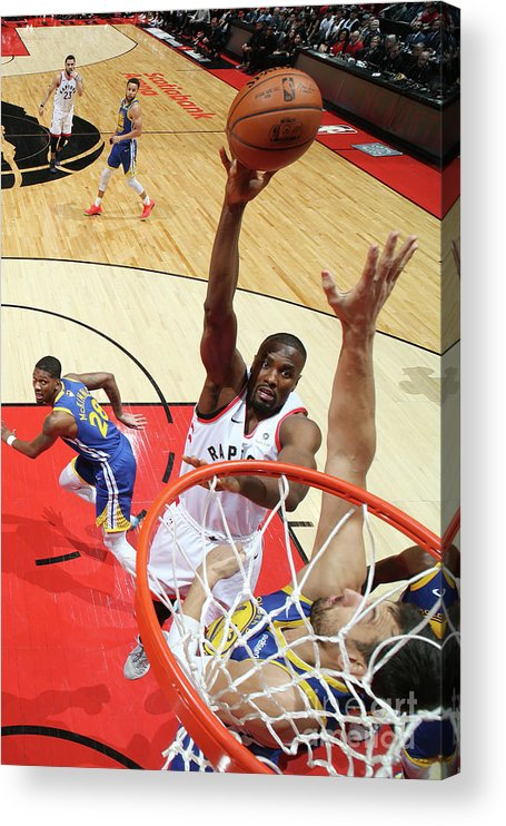Playoffs Acrylic Print featuring the photograph Serge Ibaka by Nathaniel S. Butler
