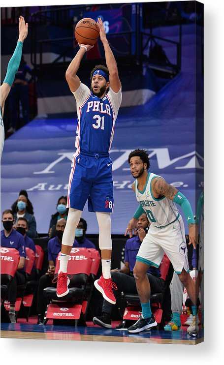 Nba Pro Basketball Acrylic Print featuring the photograph Seth Curry by David Dow