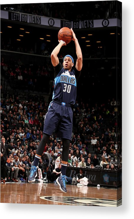 Nba Pro Basketball Acrylic Print featuring the photograph Seth Curry by Nathaniel S. Butler