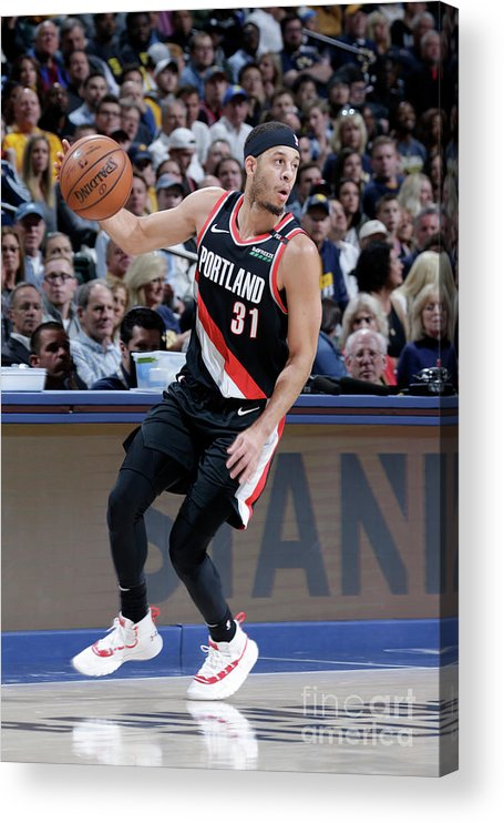 Nba Pro Basketball Acrylic Print featuring the photograph Seth Curry by Ron Hoskins