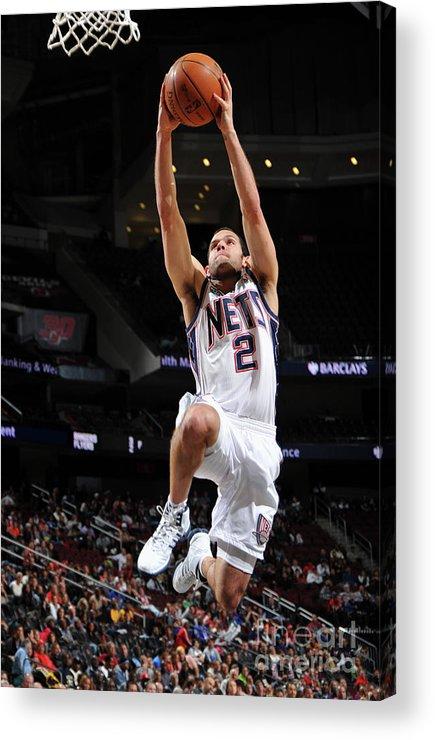 Nba Pro Basketball Acrylic Print featuring the photograph Shawne Williams, Jordan Farmar, and Darren Collison by Jesse D. Garrabrant
