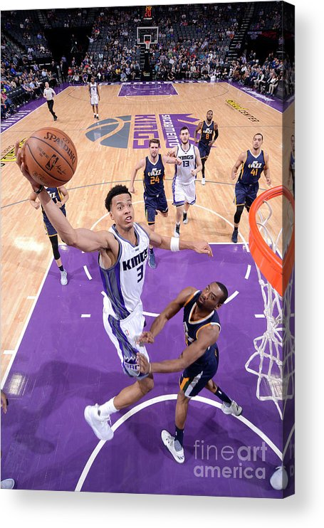 Nba Pro Basketball Acrylic Print featuring the photograph Skal Labissiere by Rocky Widner