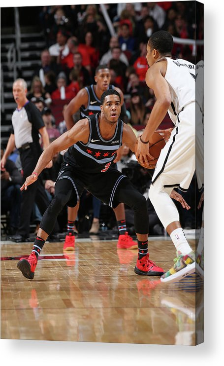 Nba Pro Basketball Acrylic Print featuring the photograph Spencer Dinwiddie by Gary Dineen