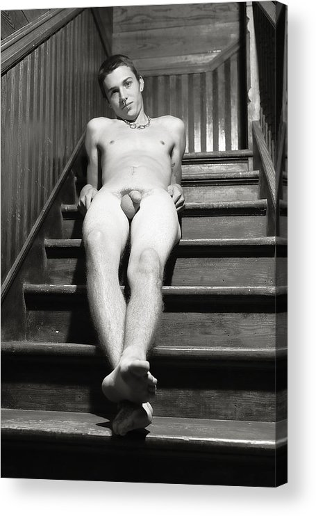 Male Acrylic Print featuring the photograph Stairway to heaven by Dan Nelson