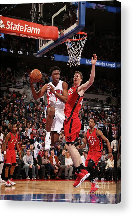 Nba Pro Basketball Acrylic Print featuring the photograph Stanley Johnson by Brian Sevald