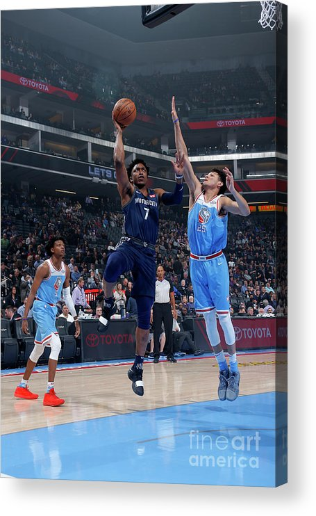 Nba Pro Basketball Acrylic Print featuring the photograph Stanley Johnson by Rocky Widner