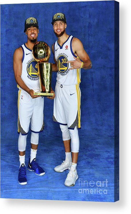 Playoffs Acrylic Print featuring the photograph Stephen Curry and Quinn Cook by Jesse D. Garrabrant