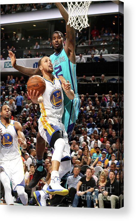 Nba Pro Basketball Acrylic Print featuring the photograph Stephen Curry by Brock Williams-smith