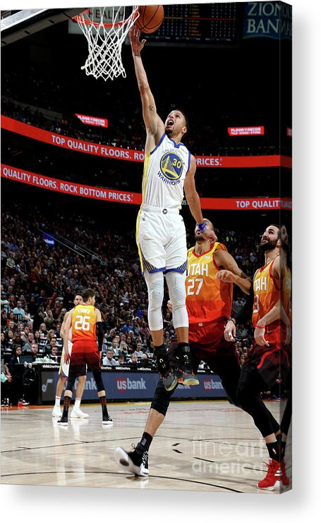 Nba Pro Basketball Acrylic Print featuring the photograph Stephen Curry by Melissa Majchrzak