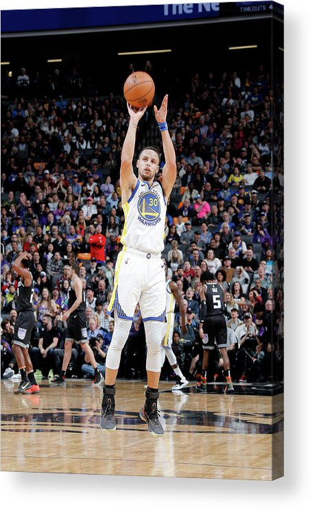 Nba Pro Basketball Acrylic Print featuring the photograph Stephen Curry by Rocky Widner