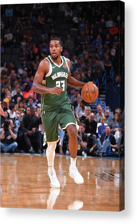 Nba Pro Basketball Acrylic Print featuring the photograph Sterling Brown by Bill Baptist