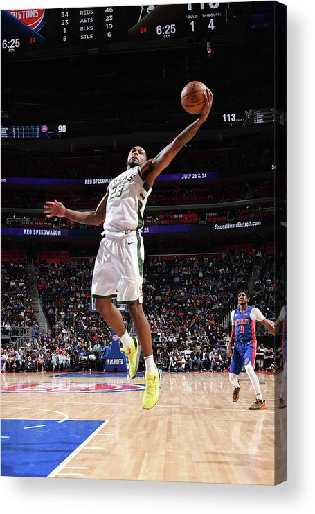 Playoffs Acrylic Print featuring the photograph Sterling Brown by Chris Schwegler