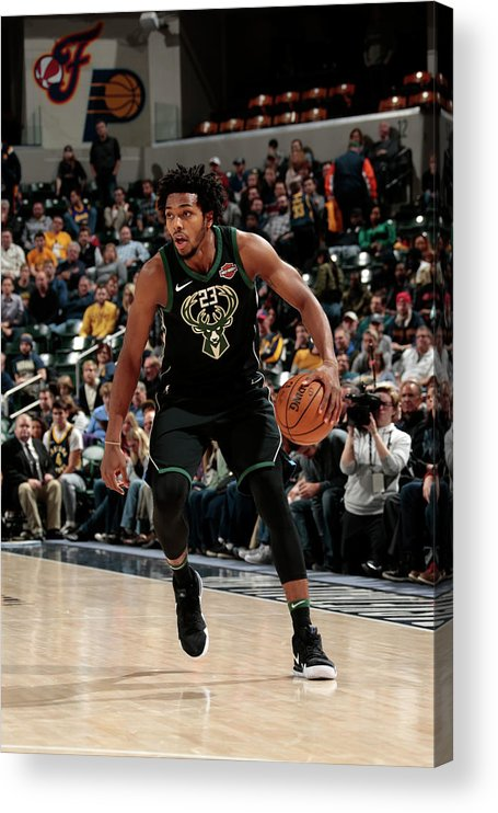 Nba Pro Basketball Acrylic Print featuring the photograph Sterling Brown by Ron Hoskins