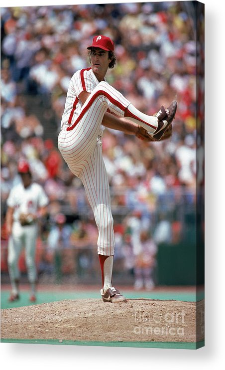 Baseball Pitcher Acrylic Print featuring the photograph Steve Carlton by Mlb Photos