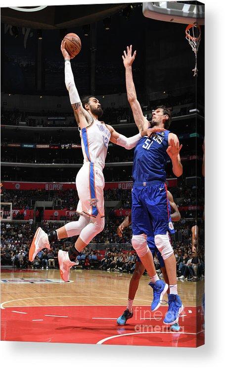 Nba Pro Basketball Acrylic Print featuring the photograph Steven Adams by Andrew D. Bernstein