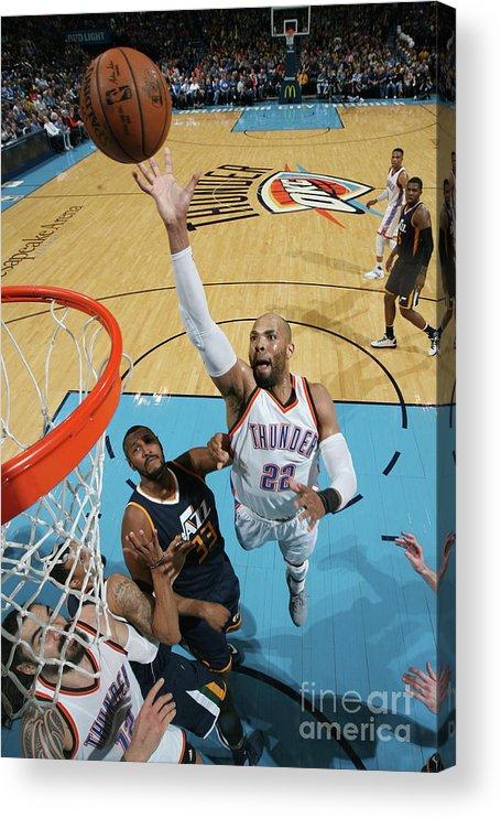 Nba Pro Basketball Acrylic Print featuring the photograph Taj Gibson by Layne Murdoch