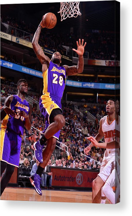 Nba Pro Basketball Acrylic Print featuring the photograph Tarik Black by Barry Gossage