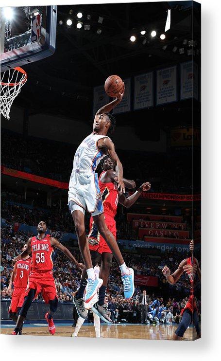 Nba Pro Basketball Acrylic Print featuring the photograph Terrance Ferguson by Joe Murphy