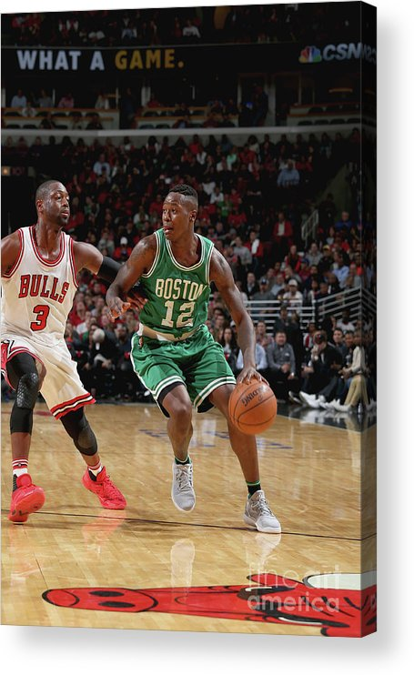 Nba Pro Basketball Acrylic Print featuring the photograph Terry Rozier by Gary Dineen