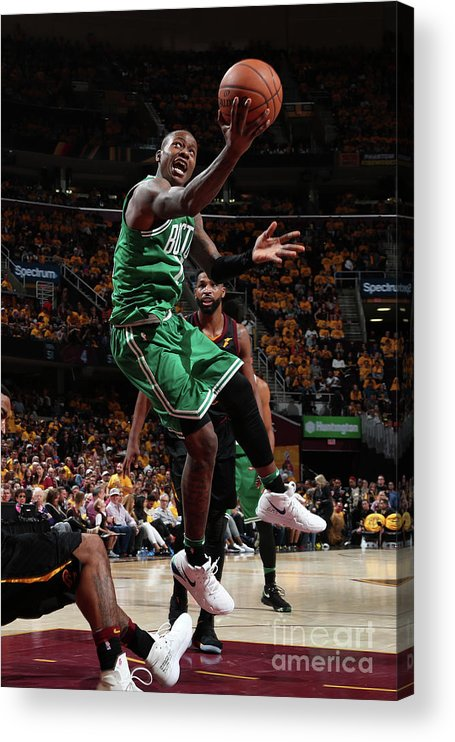 Playoffs Acrylic Print featuring the photograph Terry Rozier by Nathaniel S. Butler