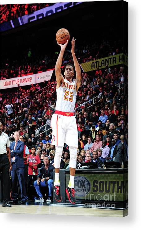 Atlanta Acrylic Print featuring the photograph Thabo Sefolosha by Scott Cunningham