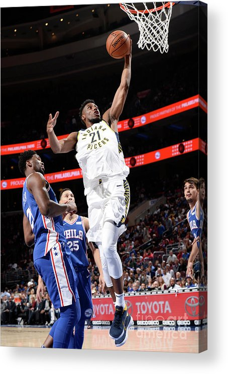 Nba Pro Basketball Acrylic Print featuring the photograph Thaddeus Young by David Dow