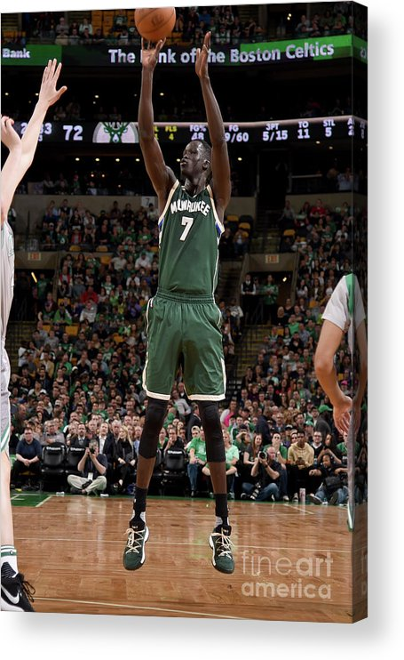 Nba Pro Basketball Acrylic Print featuring the photograph Thon Maker by Brian Babineau
