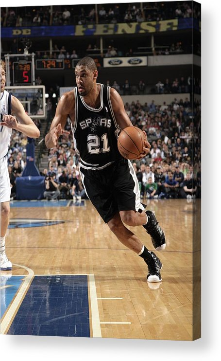 Nba Pro Basketball Acrylic Print featuring the photograph Tim Duncan by Glenn James