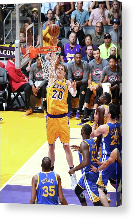 Nba Pro Basketball Acrylic Print featuring the photograph Timofey Mozgov by Aaron Poole