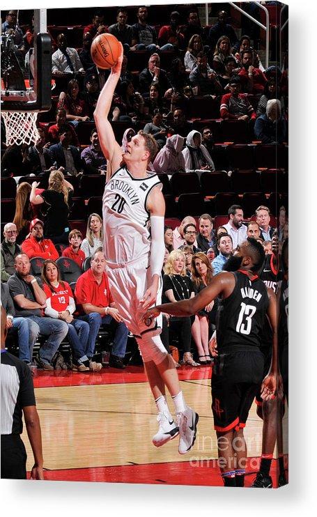 Nba Pro Basketball Acrylic Print featuring the photograph Timofey Mozgov by Bill Baptist
