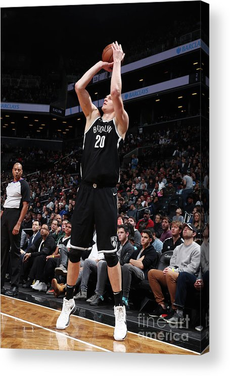 Nba Pro Basketball Acrylic Print featuring the photograph Timofey Mozgov by Nathaniel S. Butler