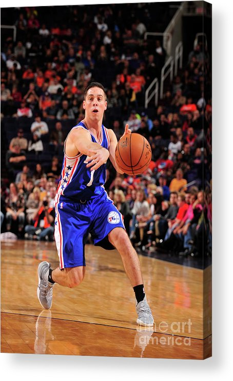 Nba Pro Basketball Acrylic Print featuring the photograph T.j. Mcconnell by Barry Gossage