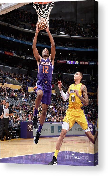 Nba Pro Basketball Acrylic Print featuring the photograph T.j. Warren by Andrew D. Bernstein