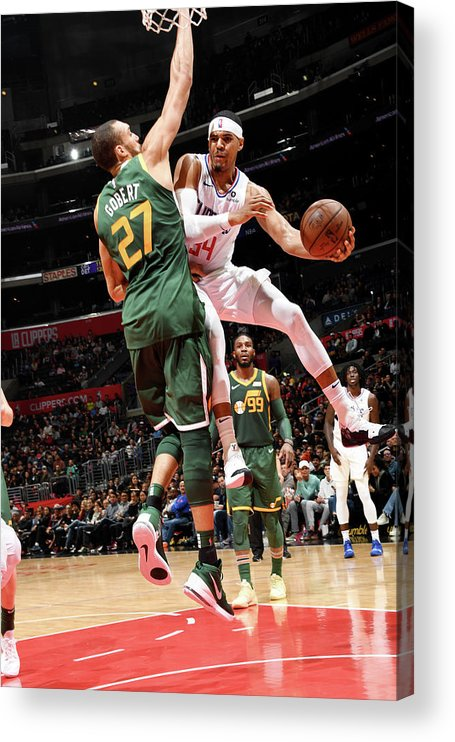 Nba Pro Basketball Acrylic Print featuring the photograph Tobias Harris by Andrew D. Bernstein