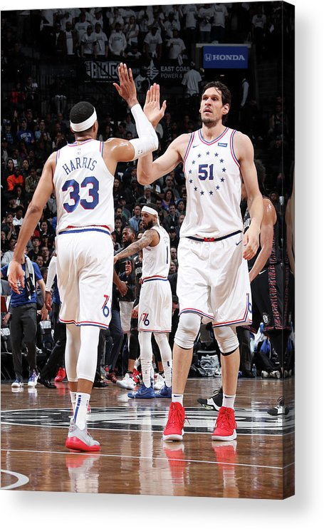 Playoffs Acrylic Print featuring the photograph Tobias Harris by Nathaniel S. Butler
