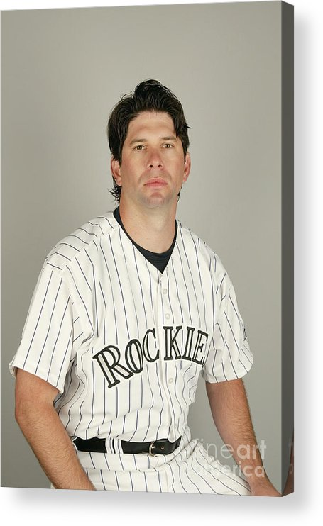 Media Day Acrylic Print featuring the photograph Todd Helton by Harry How