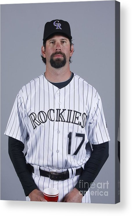 Media Day Acrylic Print featuring the photograph Todd Helton by Rick Scuteri