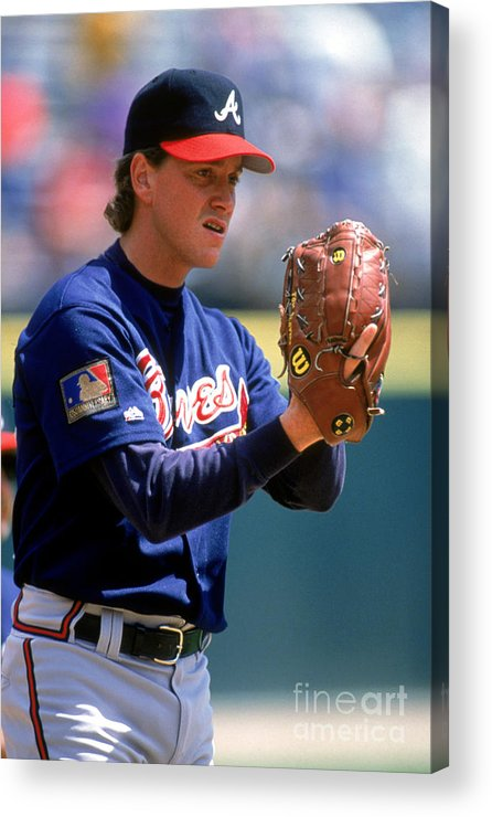 Baseball Pitcher Acrylic Print featuring the photograph Tom Glavine by Don Smith