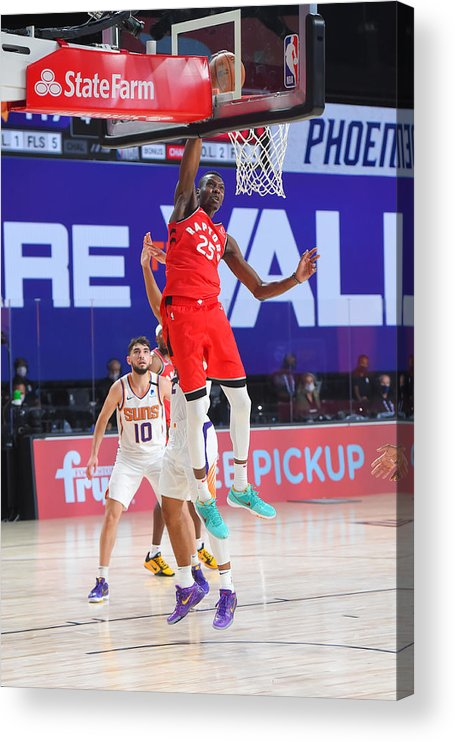 Nba Pro Basketball Acrylic Print featuring the photograph Toronto Raptors v Phoenix Suns by Bill Baptist