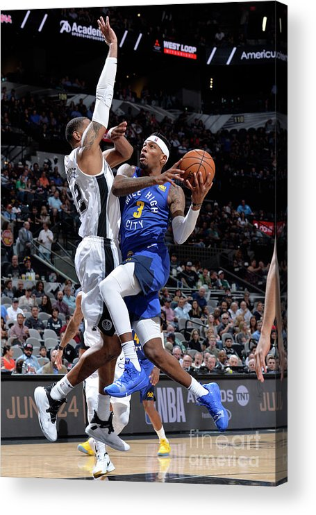 Playoffs Acrylic Print featuring the photograph Torrey Craig by Mark Sobhani