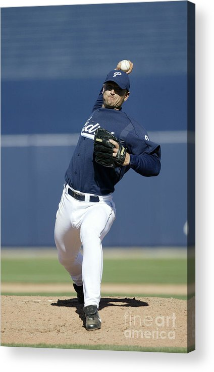 Peoria Sports Complex Acrylic Print featuring the photograph Trevor Hoffman by Jeff Gross